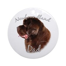 Newfie Dad2 Ornament (Round)