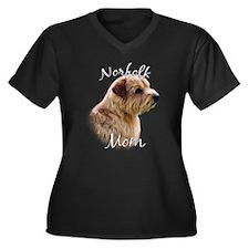 Norfolk Mom2 Women's Plus Size V-Neck Dark T-Shirt