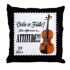 Violin Fiddle String Music Throw Pillow