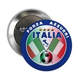 Italian Forza Azzurri 2.25&quot; Button (10 pack)