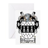 Higgins Coat of Arms Greeting Cards (Pk of 20)