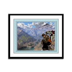 Cowboy Christmas - 12x9 Framed Print