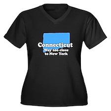 Connecticut, New York Women's Plus Size V-Neck Dar