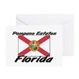 Pompano Estates Florida Greeting Cards (Pk of 10)