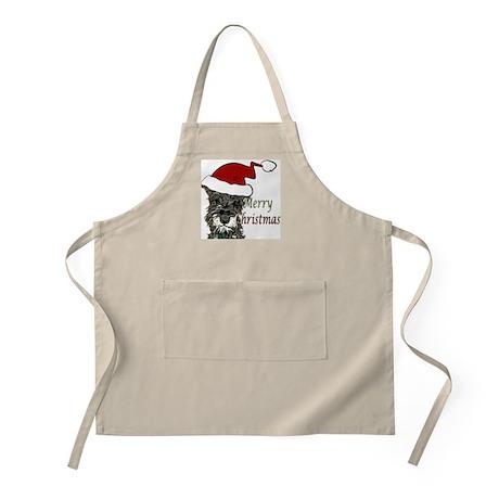 Schnauzer Christmas BBQ Apron