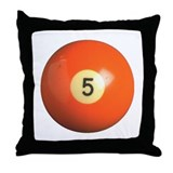 Five Billiard Ball Throw Pillow