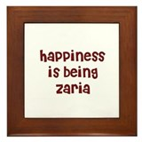 happiness is being Zaria Framed Tile