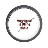 happiness is being Zaria Wall Clock