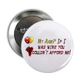 "Fine Wine 2.25"" Button (10 pack)"