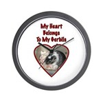 My Heart Belongs To My Gerbils wall clock