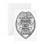 Cooldige Arizona Police Greeting Cards (Pk of 20)