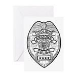 Cooldige Arizona Police Greeting Card
