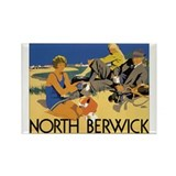 North Berwick Vintage Travel Rectangle Magnet