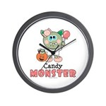Halloween Candy Monster Wall Clock