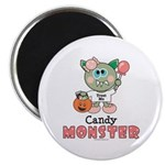 Halloween Candy Monster Magnet