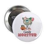 Halloween Candy Monster Button