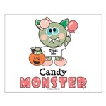 Halloween Candy Monster Small Poster
