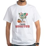 Halloween Candy Monster White T-Shirt