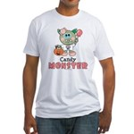 Halloween Candy Monster Fitted T-Shirt