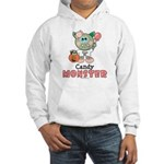 Halloween Candy Monster Hooded Sweatshirt