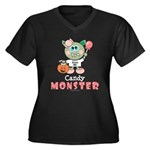 Halloween Candy Monster Plus Size V-Neck T-shirt