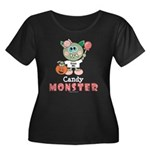 Halloween Candy Monster Plus Size Scoop Neck Tee