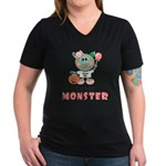 Halloween Candy Monster V-Neck T-Shirt