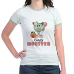 Halloween Candy Monster Jr. Ringer T-Shirt