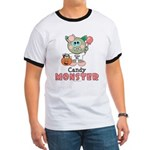 Halloween Candy Monster Ringer T