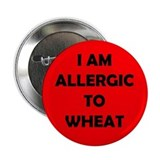 Red Warning Wheat Allergy Button