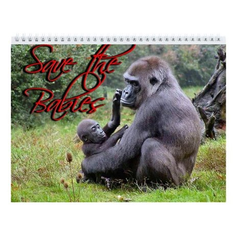 Wildlife Babies Wall Calendar