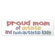 Proud Mom (Autistic & NonAutistic) Car Sticker