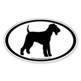 Airedale Terrier Dog (Euro) Decal