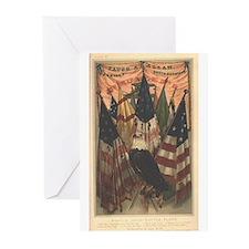 Mary A. Livermore Flag Plates Greeting Cards (Pk o
