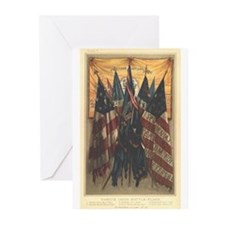 Mary A. Livermore Flag Plate  Greeting Cards (Pk o