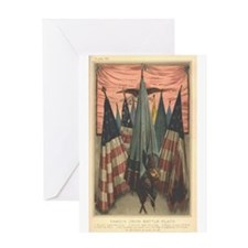 Mary A. Livermore Flag Plate Greeting Card