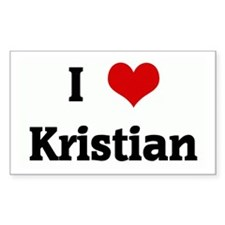 I Love Kristian Rectangle Decal