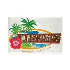 South Beach Surf Shop - Rectangle Magnet