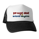 Proud Dad Of Autistic Daughter 2 Trucker Hat