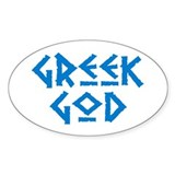 Greek God Oval Decal