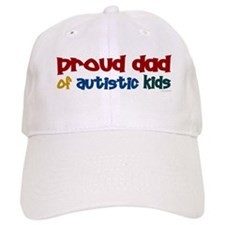 Proud Dad Of Autistic Kids 2 Baseball Cap