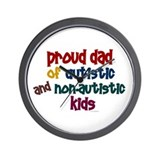 Proud Dad (Autistic & NonAutistic) Wall Clock