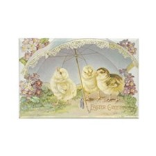 Cute Vintage easter Rectangle Magnet (10 pack)