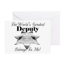 World's Greatest Deputy Greeting Card