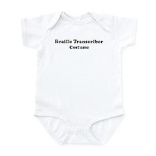 Braille Transcriber costume Infant Bodysuit