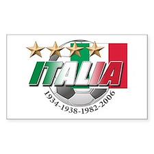 Italian soccer emblem Rectangle Decal