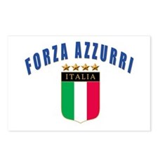 Forza azzurri Postcards (Package of 8)