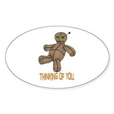 Voodoo Doll Oval Decal