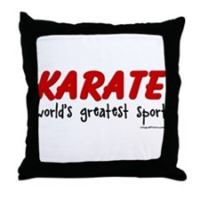 KARATE (world's greatest spor Throw Pillow