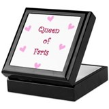 Queen of Hearts Queen of Farts Keepsake Box